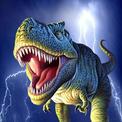 Lightning T Rex dinosaur 500x500